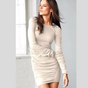 VICTORIAS Secret Ruched Knit Mini Dress